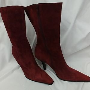 Kenneth Cole Burgundy/Wine Suede Boot 9.5